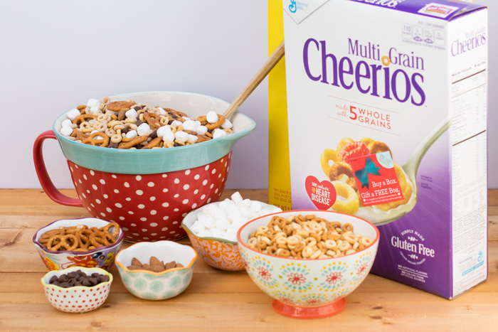 Gluten Free pretzels, nuts, cheerios and more