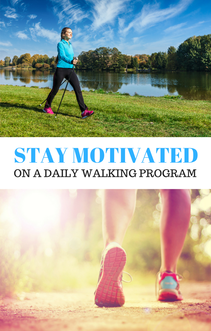 Tips and Tricks to stay motivated on a daily walking program. @OutshineSnacks #snackbrighter #walking #healthysnacks #ad