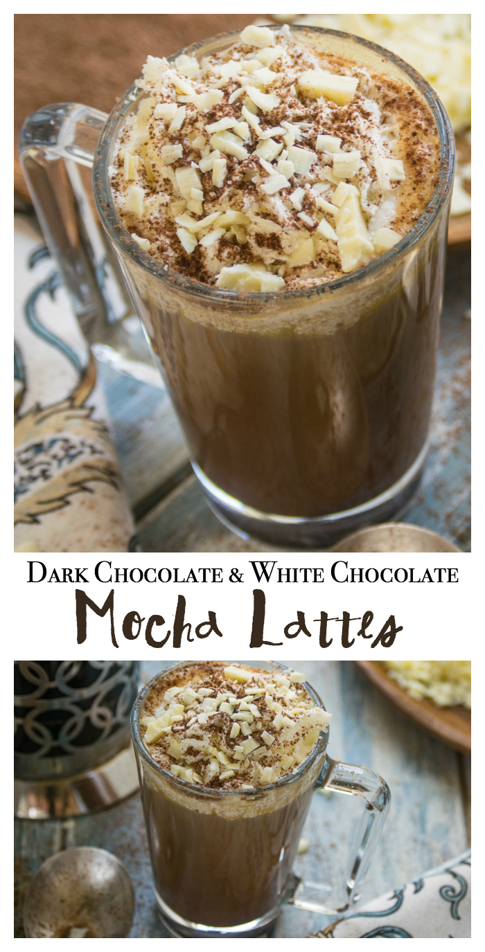 Learn how to make Dark Chocolate White Chocolate Mocha Lattes with this step by step tutorial. Who knew the recipe was so simple? #sponsored #CupForCrushingIt