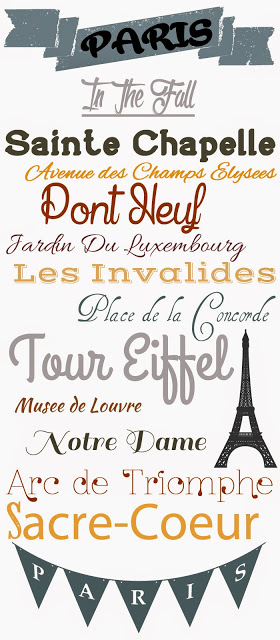 font ideas based on Paris in the fall as inspiration