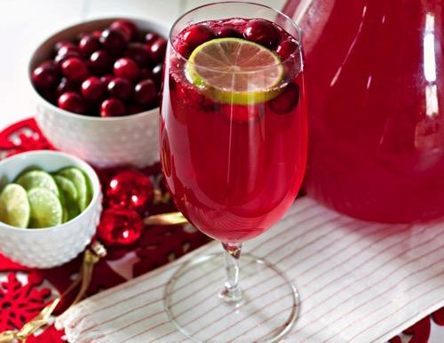 Christmas Cranberry Limeade Sparkling Mocktail Recipe
