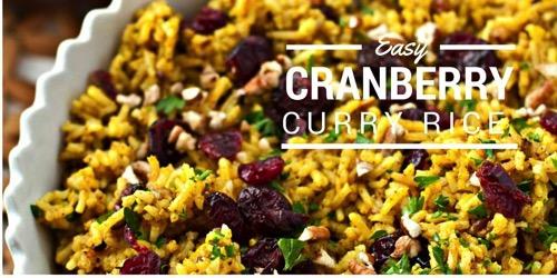 Cranberry Pecan Curry Rice Recipe