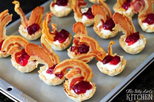 Creamy Cranberry Pancetta Bites from This Silly Girls Kitchen