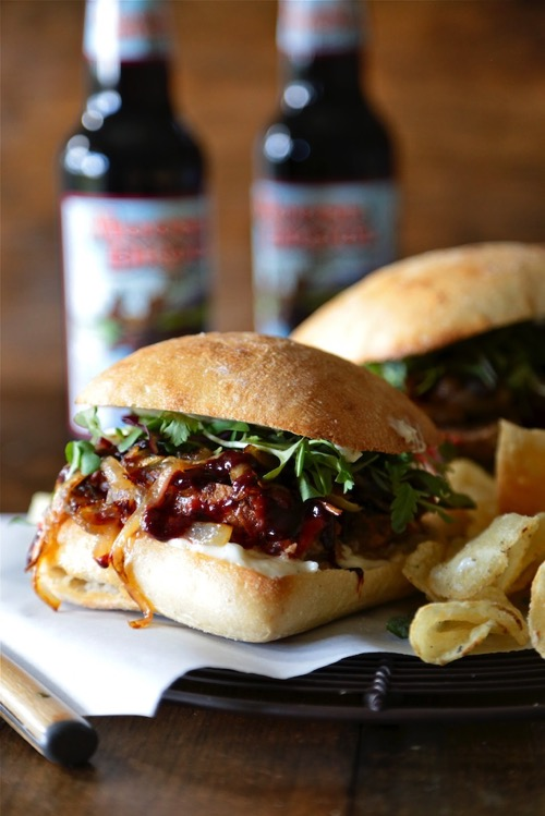 Cranberry Mustard Meatloaf sandwich