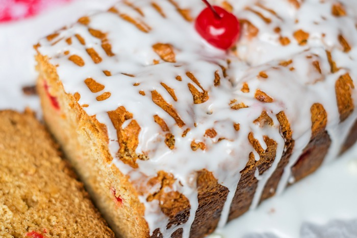 Make Cherry Eggnog Bread Recipe with white chocolate chips