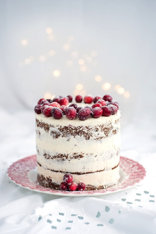 Walnut orange cranberry cake