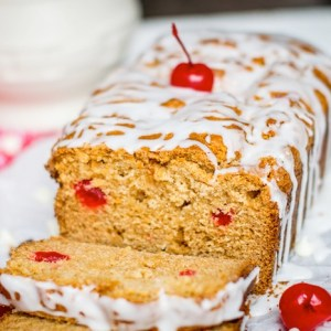 White Chocolate Cherry Quick Bread