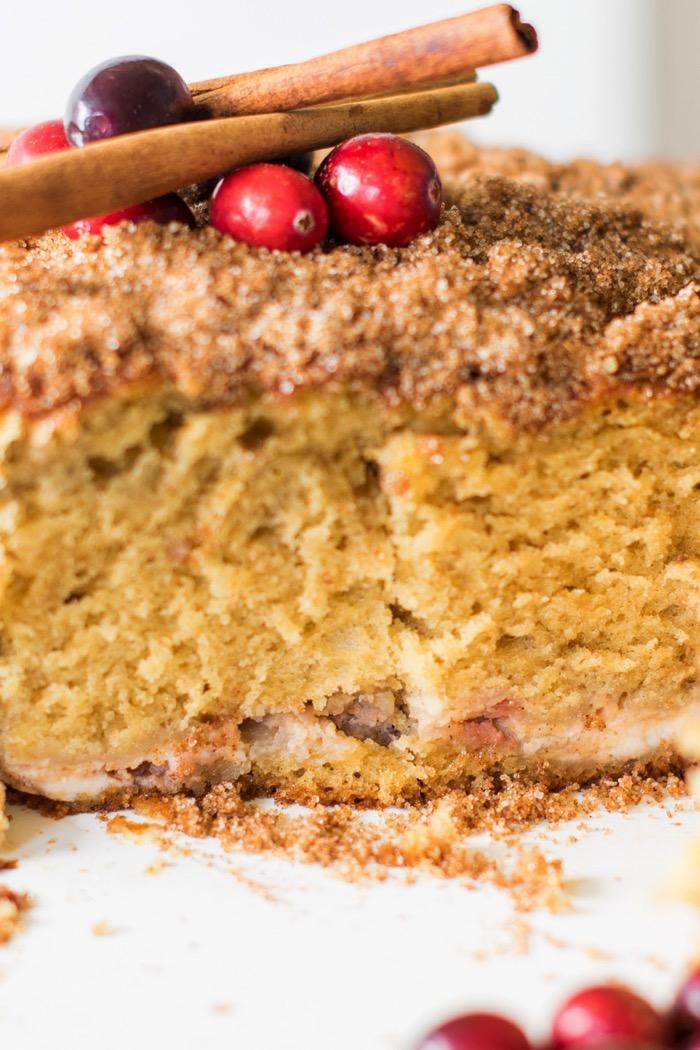 Cinnamon streusel topped cream cheese coffee cake recipe