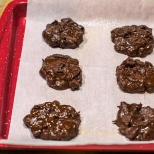 flatten flourless holiday cookies before baking