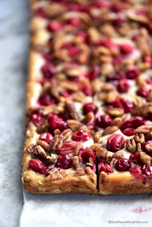 Oatmeal pecan cranberry bars recipe