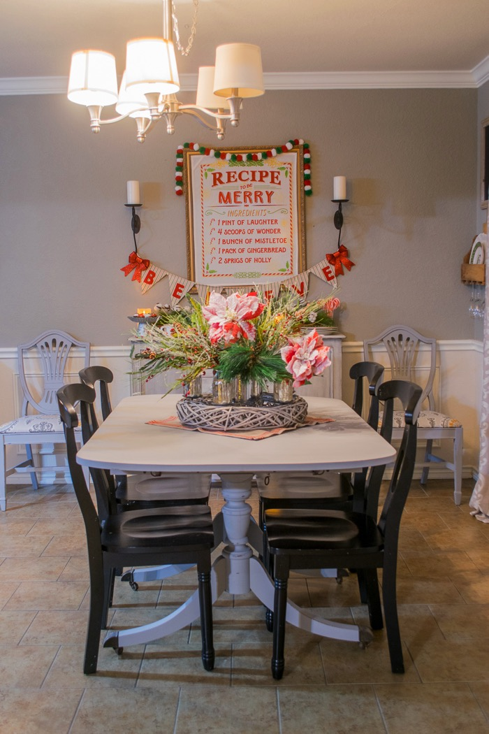 Fixer Upper Inspired Holiday Home Tour Table and buffet