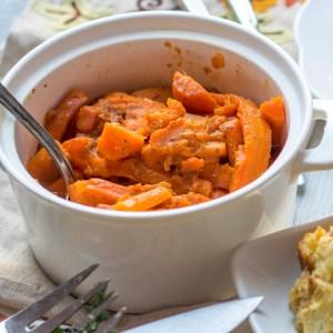 Maple Mustard Carrots in Instant Pot
