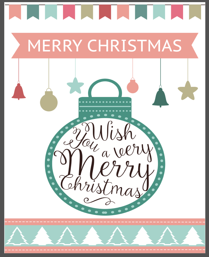 Merry Christmas from MrsMajorHoff! FREE PRINTABLE!