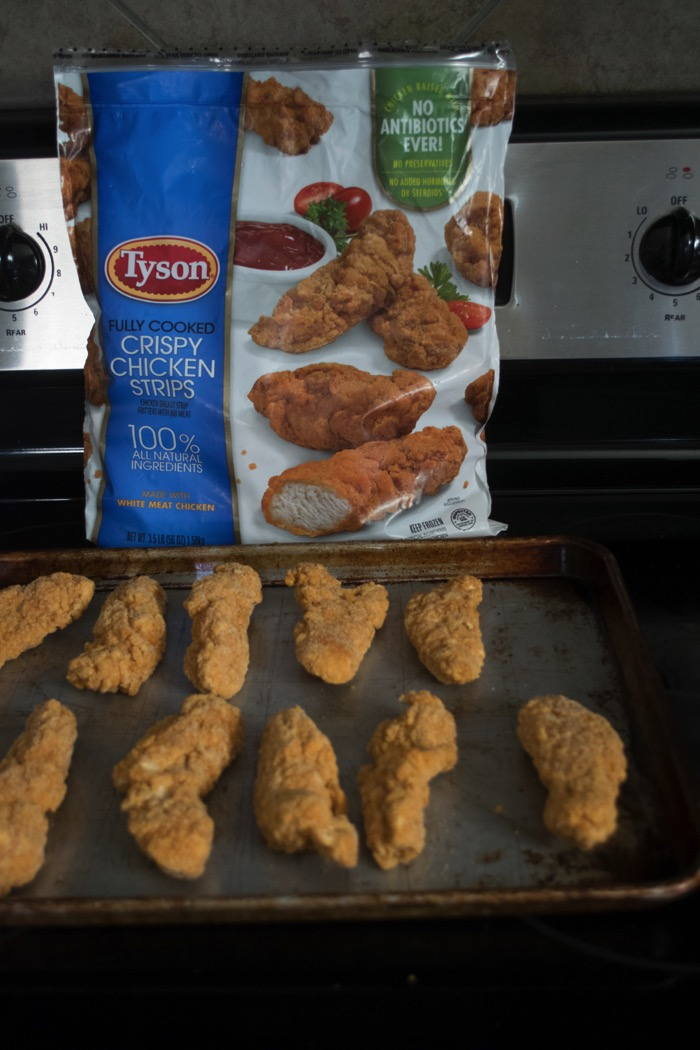 Baking Tyson® Crispy Chicken strips for a crowd