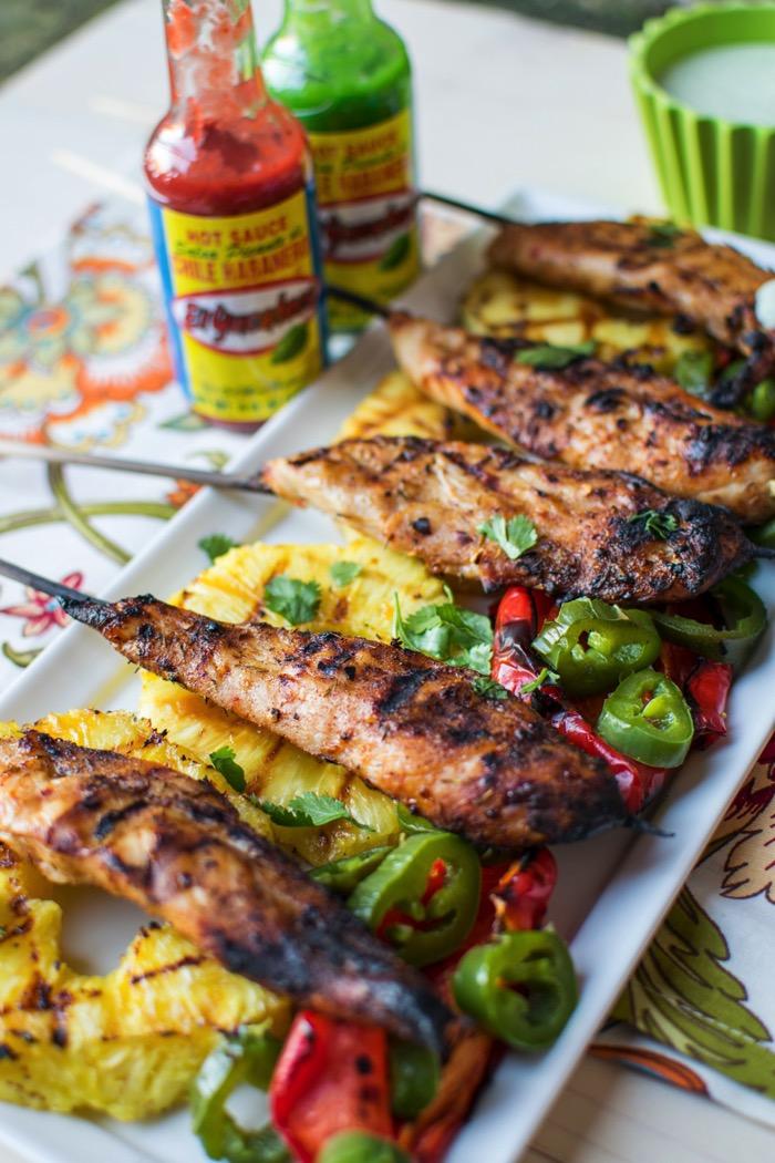 Easy game time appetizer - Jerk Chicken Skewers!
