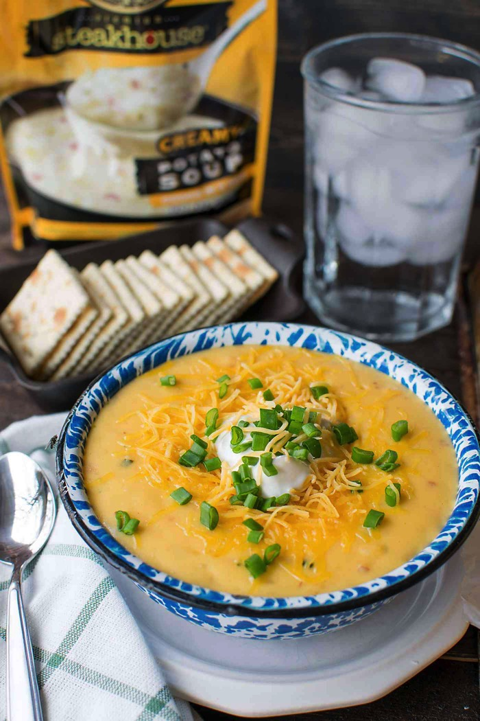 Idahoan Premium steakhouse Loaded potato soup