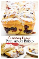 cranberry orange pull apart bread.