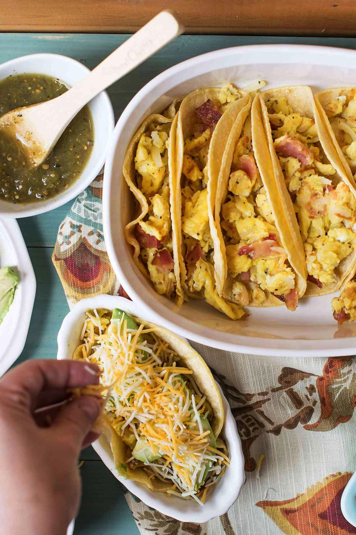 breakfast taco toppings