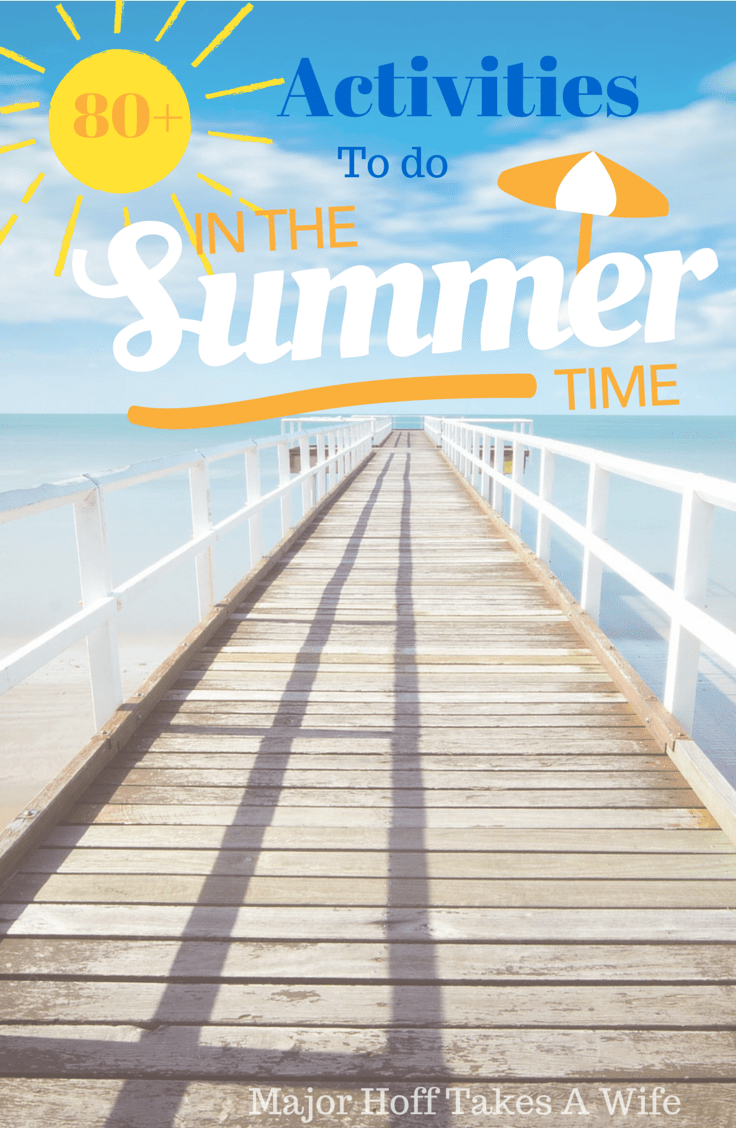 Activities to do in the summer time. 80+ ideas to beat the summer boredom slump! #Free2Be #laundry #ad