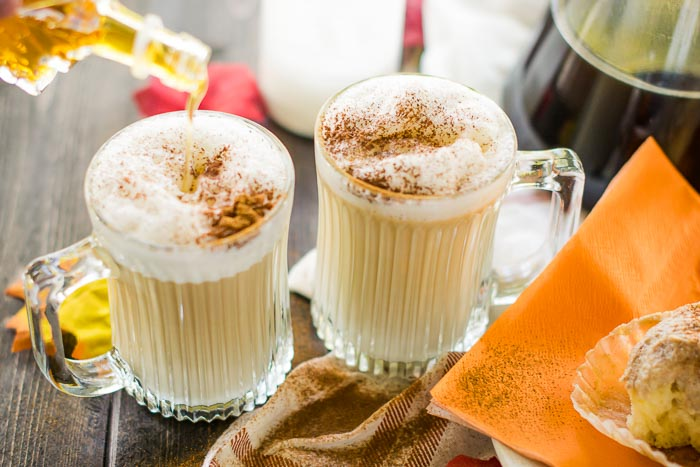 using maple syrup in a coffee drink