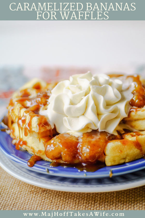 Caramelized banana waffles : Caramelized bananas will turn your weekend waffles to off the chart amazing thanks to a secret ingredient in the waffle recipe! #waffles #bananas #breakfast