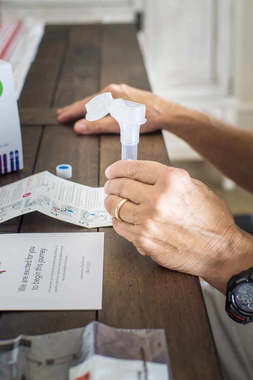 Preparing for ancestry DNA test