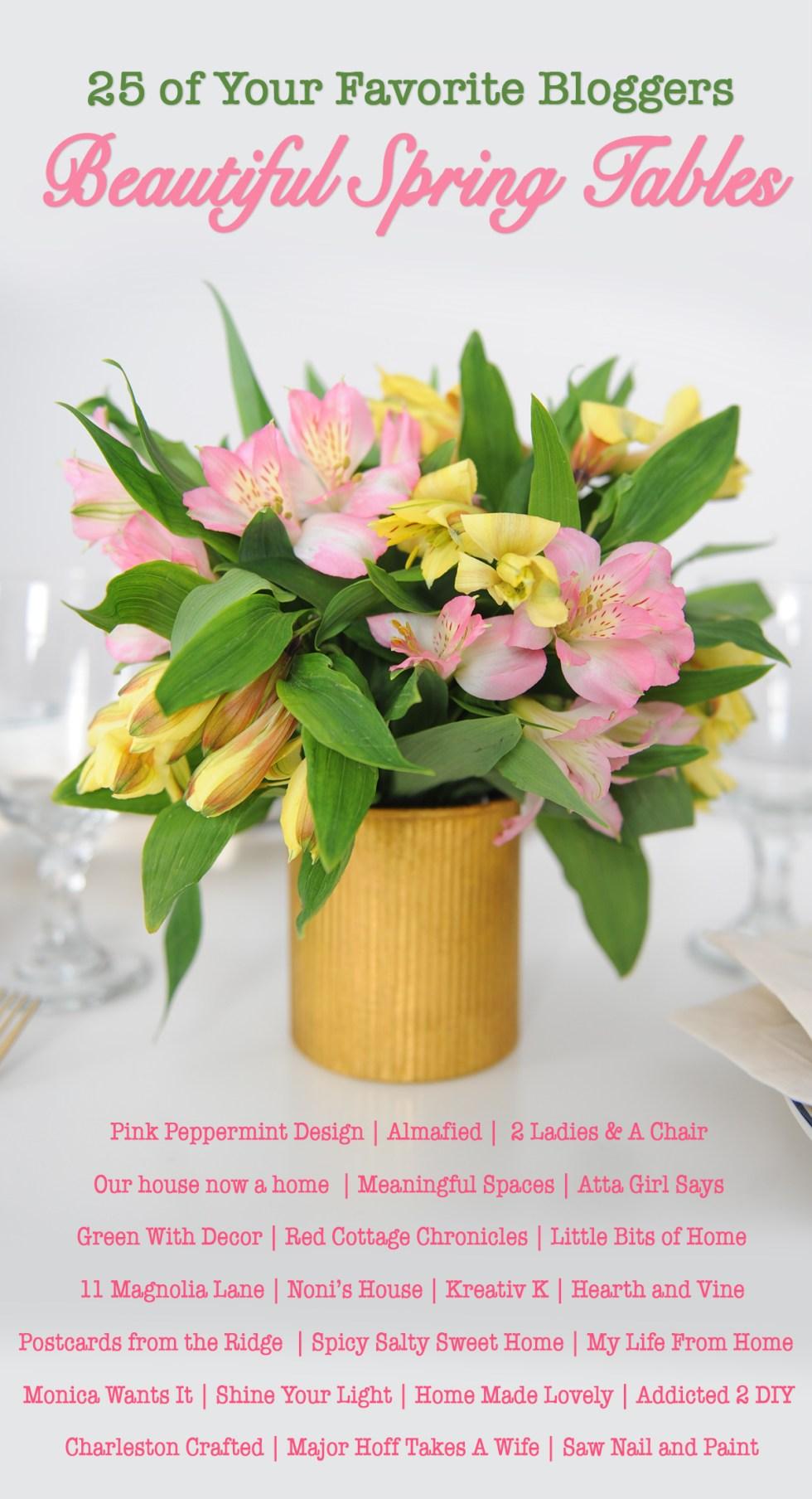 Beautiful spring table tour blog hop