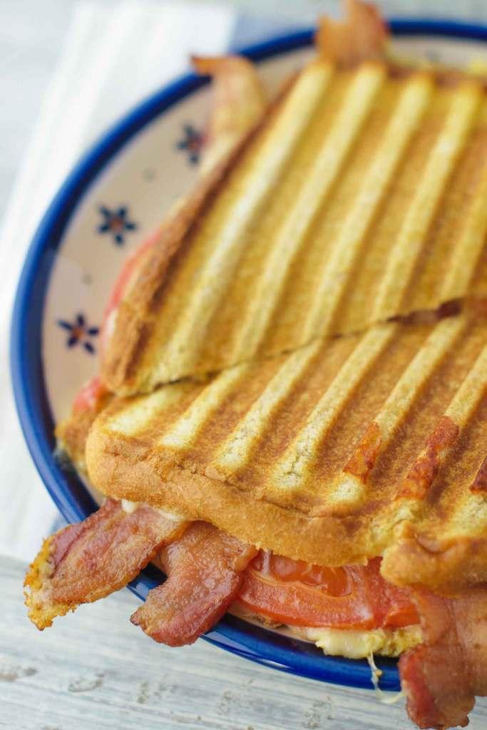 Farmhouse white bread grills perfectly in a panini press