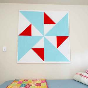 Wall art is inexpensive to make when you DIY your own canvas!