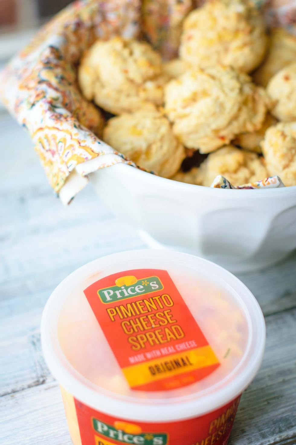 Pimiento cheese is the trick to moist drop cheese biscuits