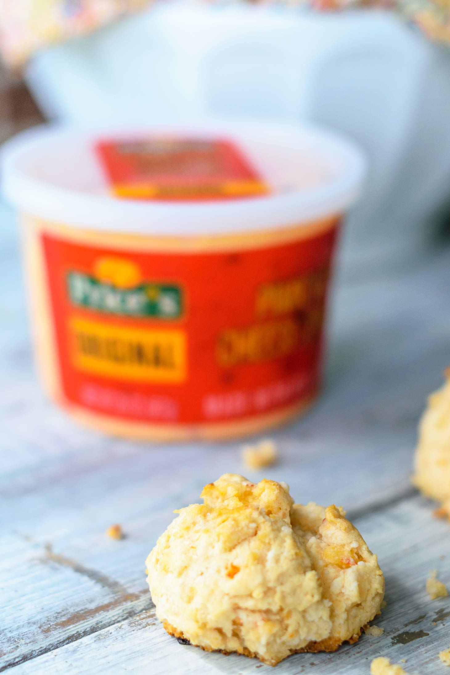 Easy cheese drop biscuits with pimiento cheese spread