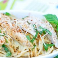 blackened chicken pasta is a breeze to make at home when using rotisserie chicken or by using chicken breasts seasoned with blackening seasoning.