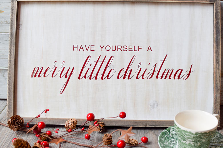 Have Yourself A Merry Little Christmas Sign.Apply Vinyl To Wood Plus Free Christmas Svg Major Hoff