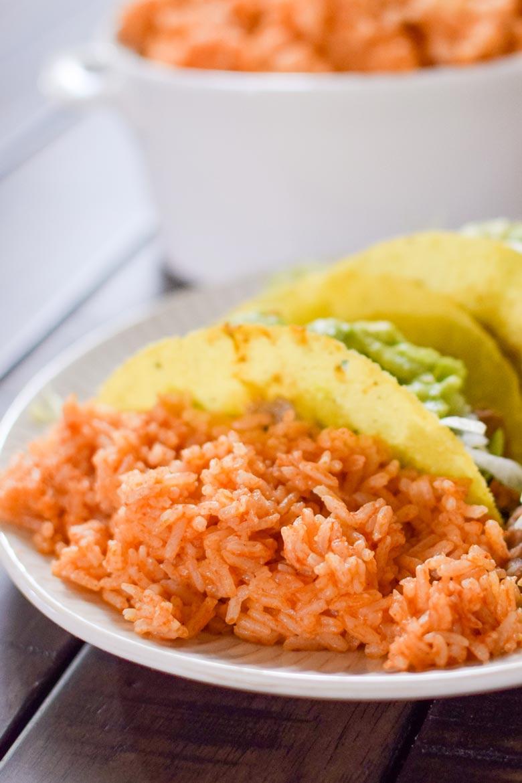 Mexican rice prepared in a pressure cooker