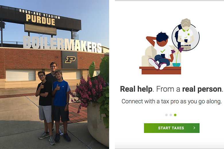 real help from h&r block for things like having a college student