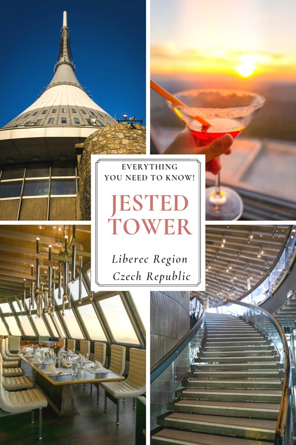 Jested Tower on Jested Mountain is a must see if visiting the Liberec region of the Czech Republic. This UFO shaped television transmission tower also boasts a first rate restaurant and hotel. The views are spectacular and not to be missed!