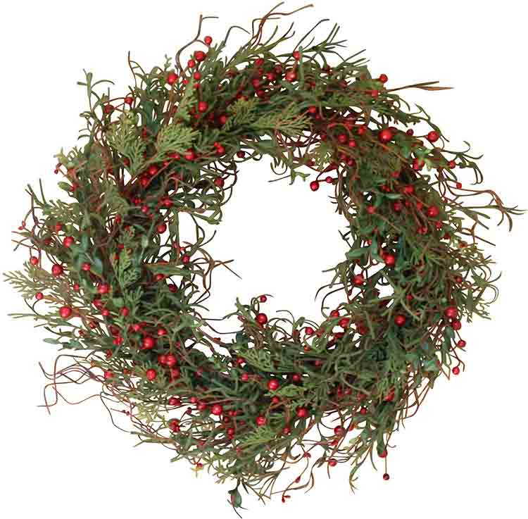 Winterberry wreath on amazon