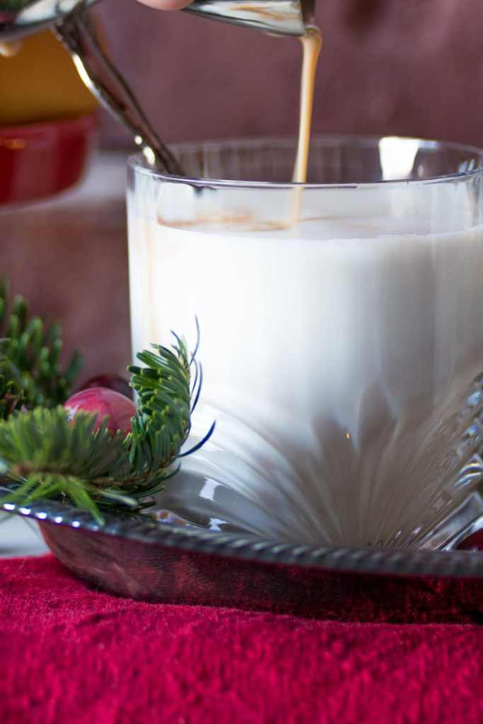 adding baileys to hot white chocolate