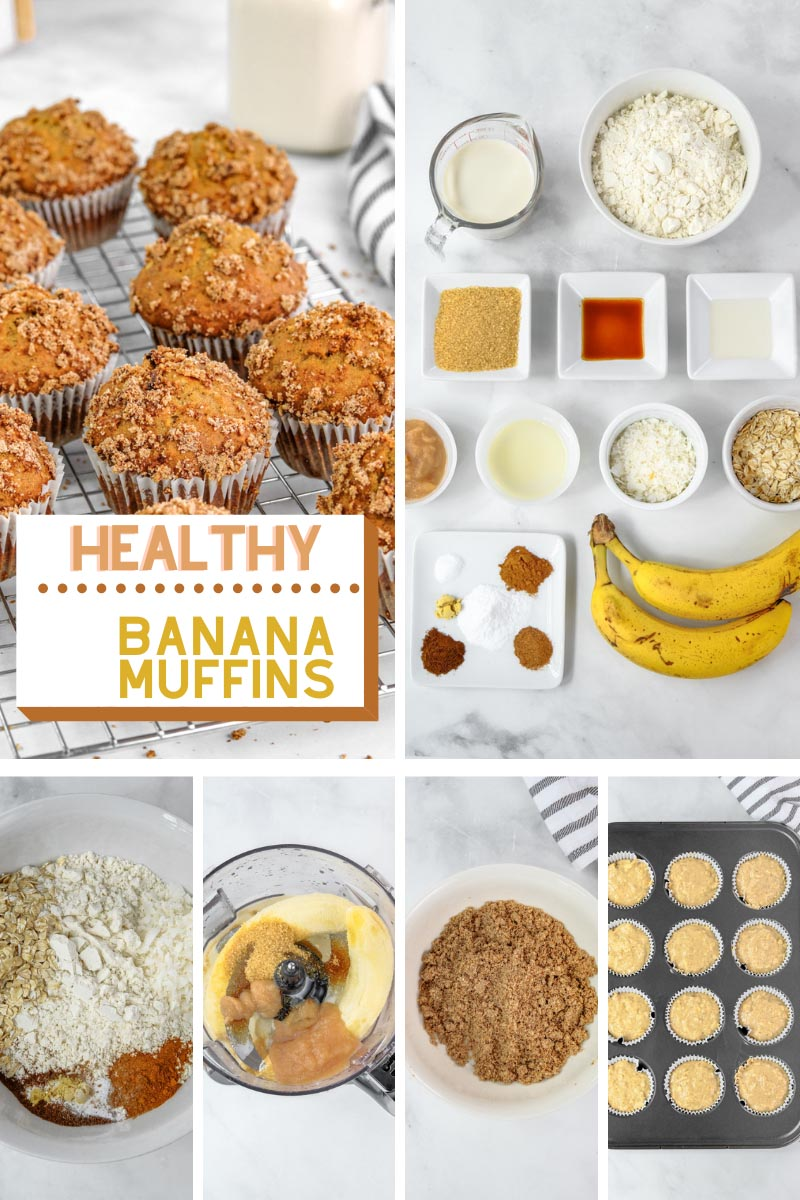 Preparing healthy banana muffins with wet ingredients in a blender