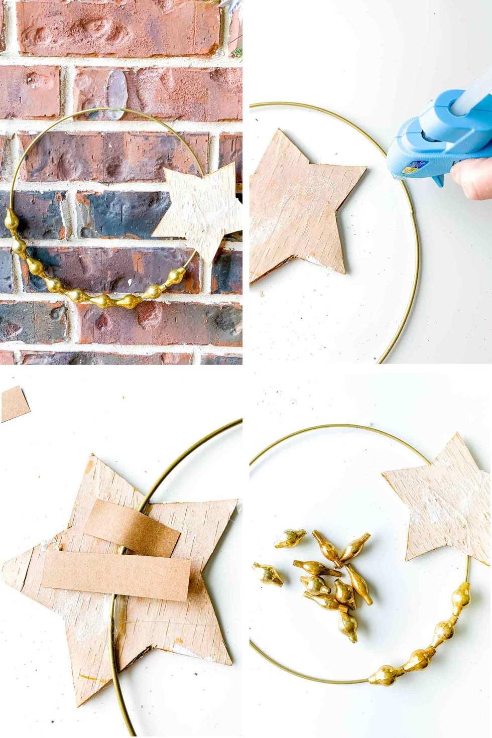 DIY medium star ornament wreath