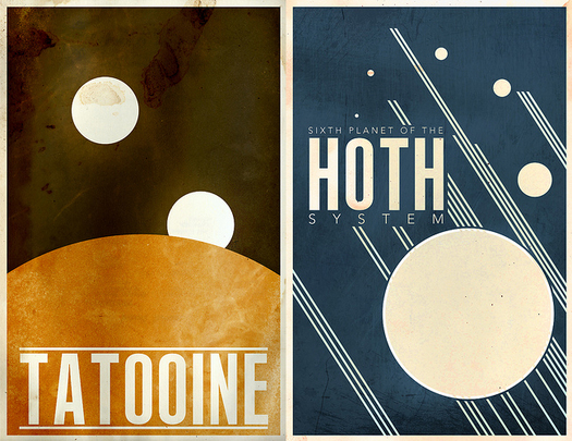 Vintage Star Wars Travel Posters
