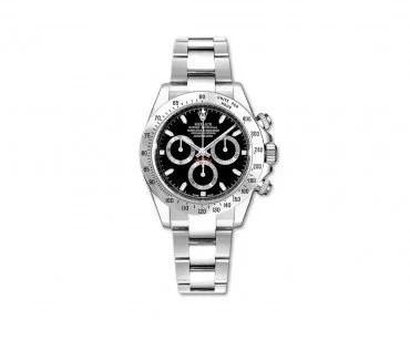 Rolex Daytona 116520 Black Cosmograph Steel Case Mens Watch
