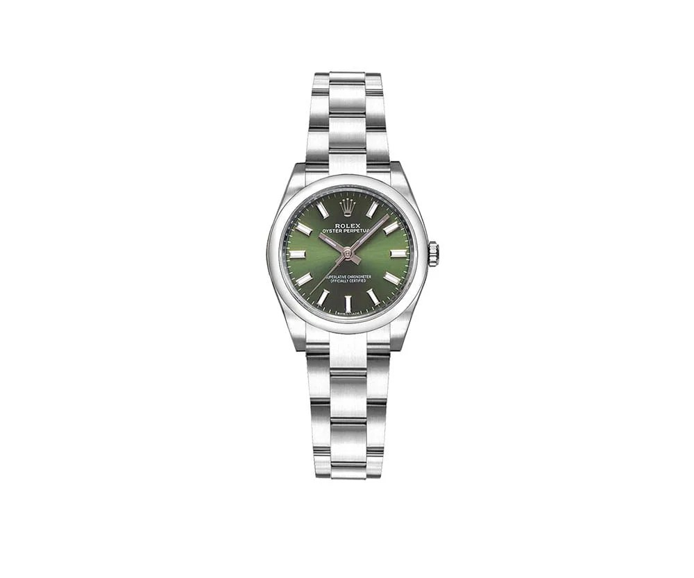 Rolex 176200 olgso Oyster Perpetual 26mm Green Dial Ladies