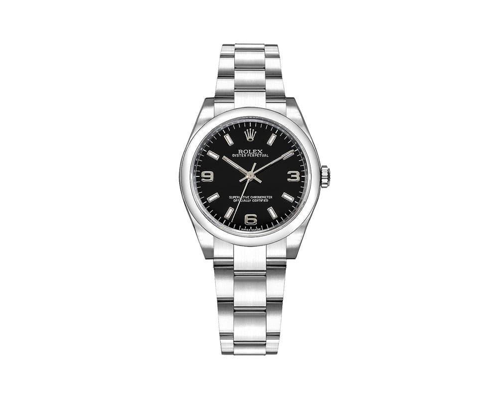 Rolex 177200 blksao Oyster Perpetual 31mm Black Dial Ladies Watch caliber 2231 @majordor #majordor