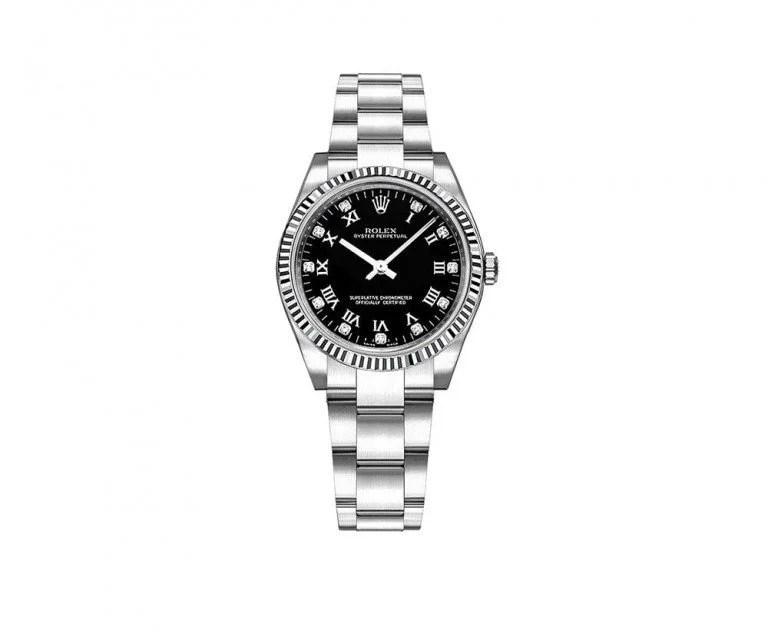 Rolex Oyster Perpetual 177234-BLKRDO 31mm Womens Luxury Watch