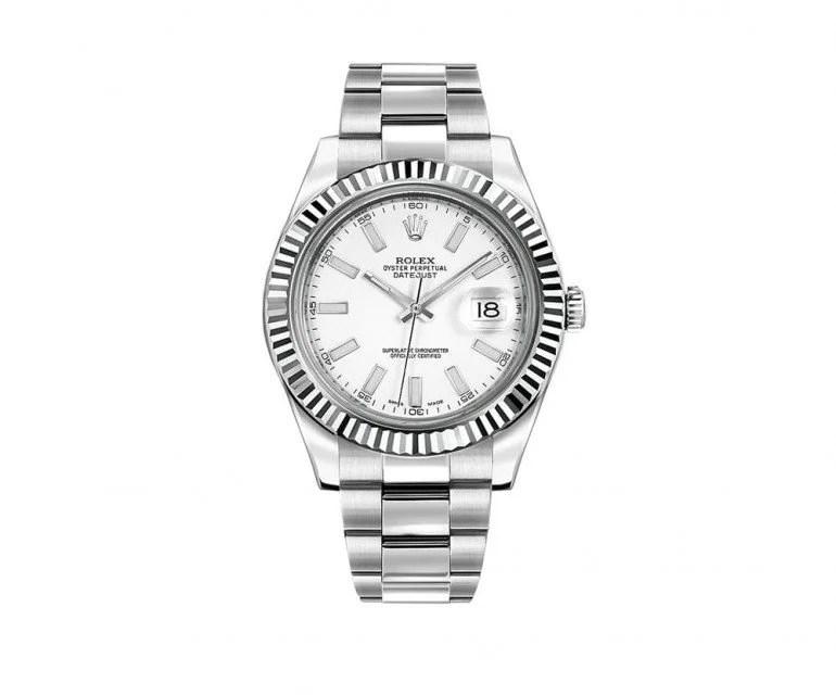 Rolex Datejust II 116334-whtsfo 41mm White Gold Bezel Mens