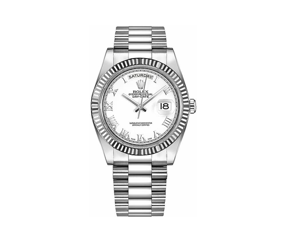 New Rolex Day-Date II Mens Luxury Watch 218239-WHTRP