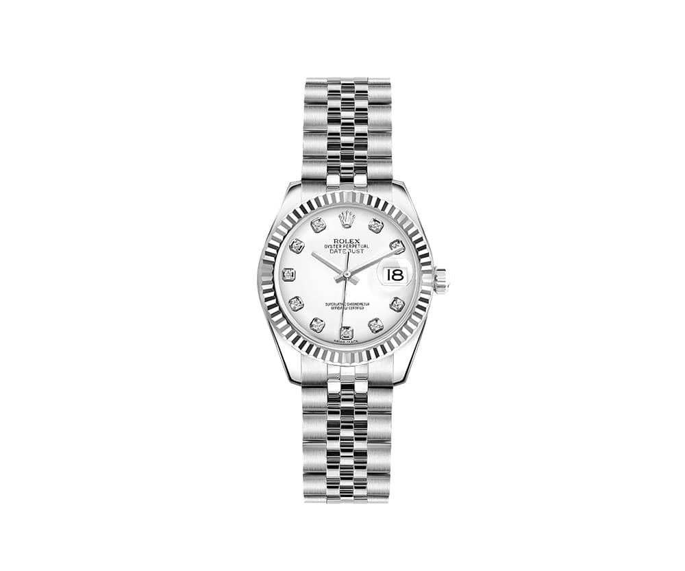 Rolex Lady Datejust 179174-WHTDJ 26mm Luxury Womens Watch