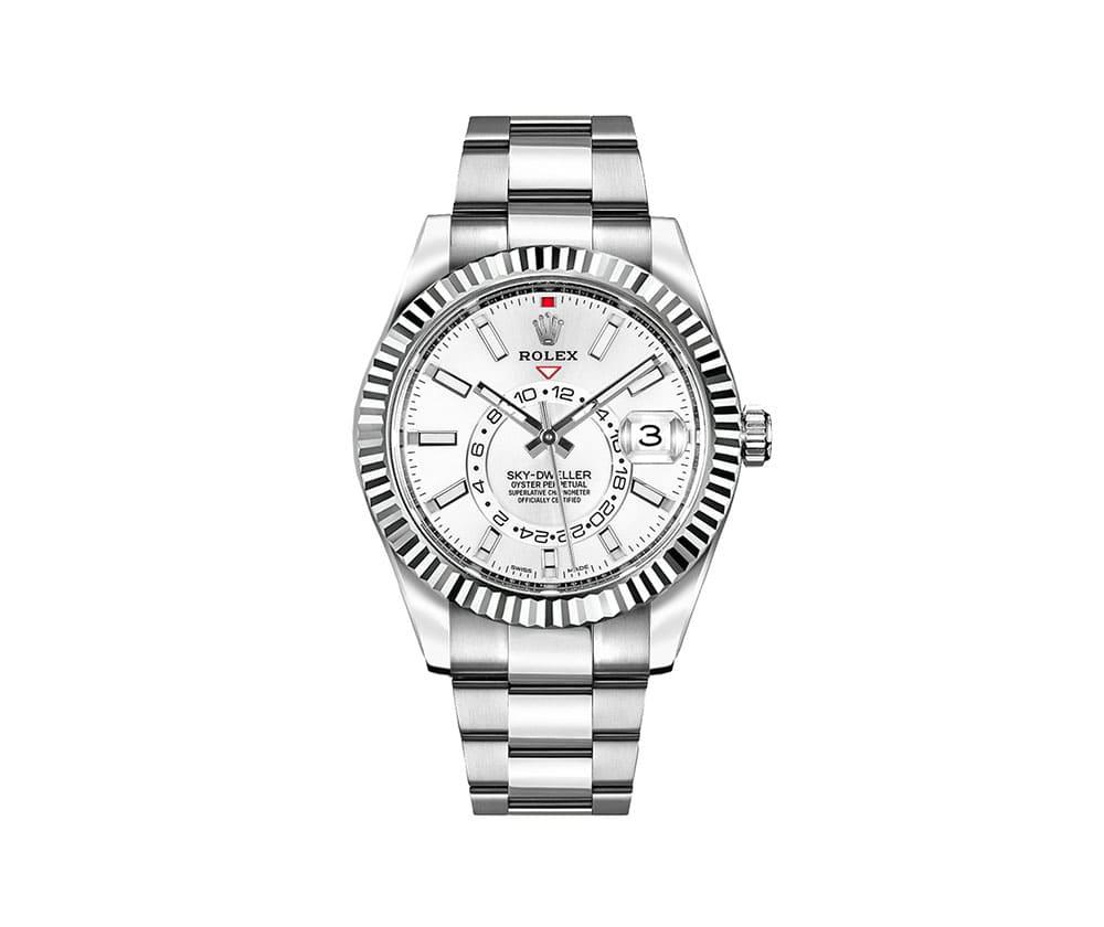 Rolex Sky Dweller 42mm GMT Mens Luxury Watch 326934-WHTSO