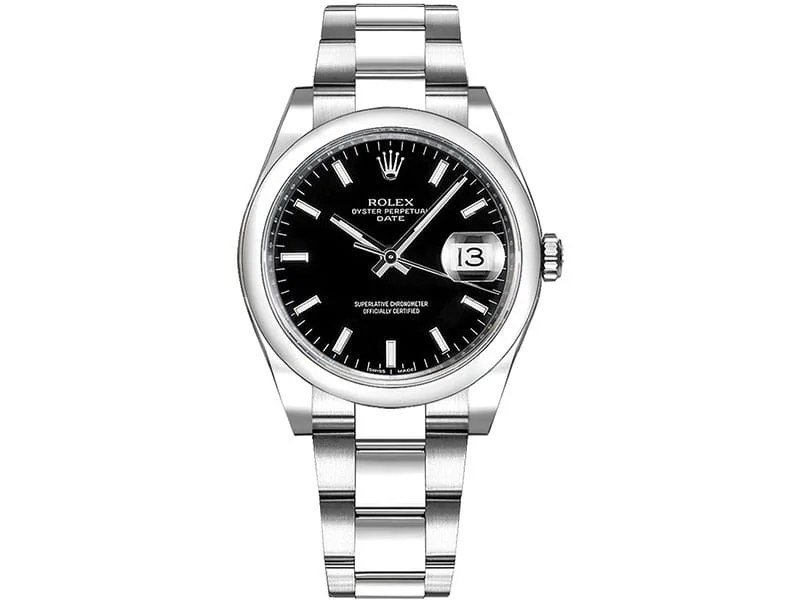115200 Rolex Oyster Perpetual Date 34 Black Dial Lady